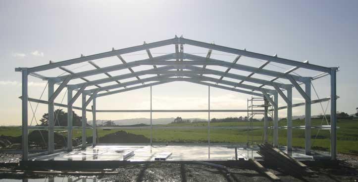 4 Bay farm shed frame work
